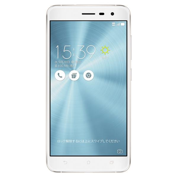 【送料無料】ASUS SIMフリースマートフォン ZenFone 3 パールホワイト ZE552KL-WH64S4 [ZE552KLWH64S4]