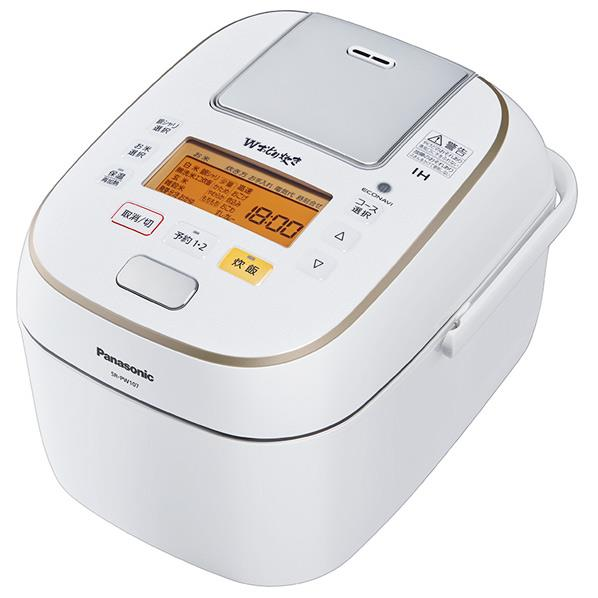 【送料無料】パナソニック 可変圧力IH炊飯ジャー(5.5合炊き) Wおどり炊き ホワイト SR-PW107-W [SRPW107W]【RNH】