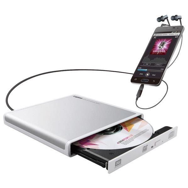 ロジテック Android用CD録音ドライブ ホワイト LDR-PMJ8U2RWH [LDRPMJ8U2RWH]【KK9N0D18P】【RNH】