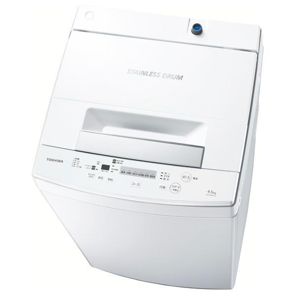 【送料無料】東芝 4.5kg全自動洗濯機 ピュアホワイト AW-45M5(W) [AW45M5W]【RNH】
