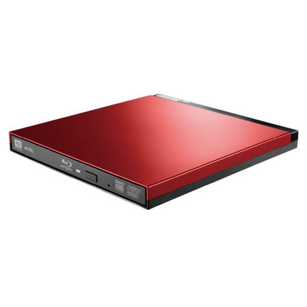 ロジテック UHDBDドライブ搭載 USB3.0ポータブルブルーレイドライブ レッド LBD-PUD6U3LRD [LBDPUD6U3LRD]【RNH】