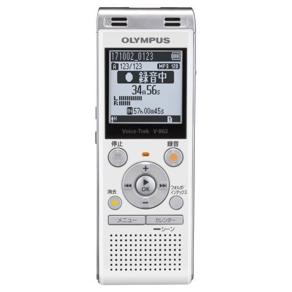 【送料無料】オリンパス ICレコーダー(4GB) Voice-Trek ホワイト V-862 WHT [V862WHT]【RNH】