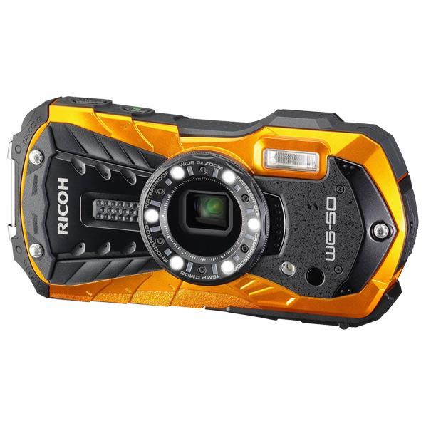 【送料無料】リコー デジタルカメラ オレンジ WG-50 OR [WG50OR]【RNH】【ESLG】