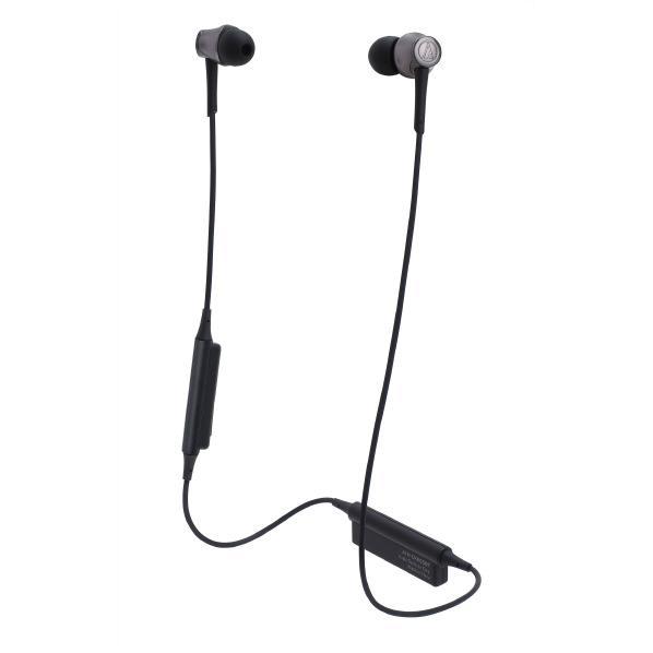 【送料無料】オーディオテクニカ ワイヤレスインナーイヤーヘッドフォン Sound Reality スティール ブラック ATH-CKR55BT BK [ATHCKR55BTBK]【RNH】