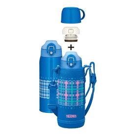 サーモス 真空断熱2ウェイボトル(0.8L / 0.83L) チェックブルー FHO-800WF-CHBL [FHO800WFCHBL]【AUMP】