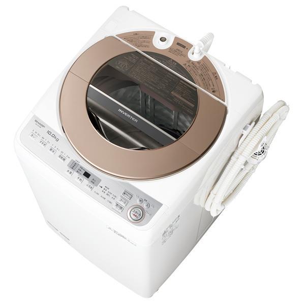 【送料無料】シャープ 10.0kg全自動洗濯機 ブラウン系 ESGV10BT [ESGV10BT]【RNH】【JMRN】