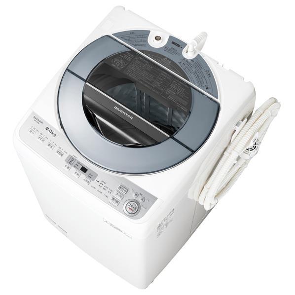 【送料無料】シャープ 8.0kg全自動洗濯機 シルバー系 ESGV8BS [ESGV8BS]【RNH】【JMRN】