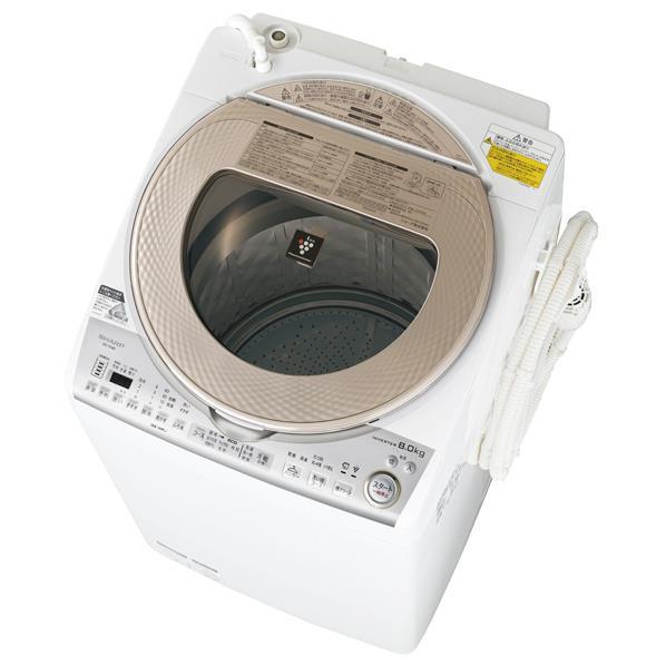 【送料無料】シャープ 8.0kg洗濯乾燥機 ゴールド系 ESTX8BN [ESTX8BN]【RNH】