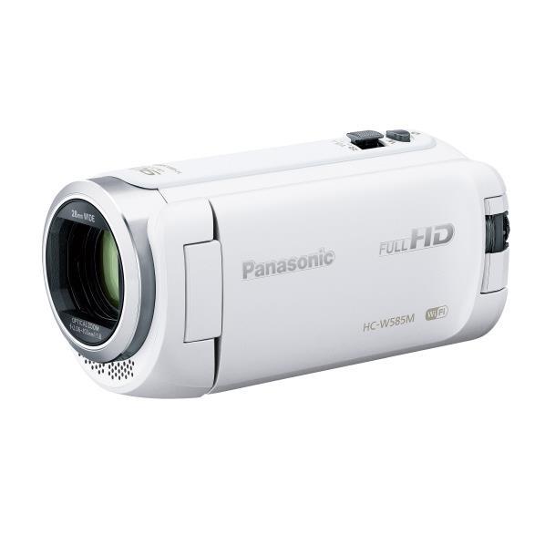 【送料無料】パナソニック 64GB内蔵メモリー デジタルハイビジョンビデオカメラ ホワイト HC-W585M-W [HCW585MW]【RNH】
