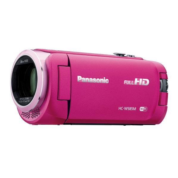 【送料無料】パナソニック 64GB内蔵メモリー デジタルハイビジョンビデオカメラ ピンク HC-W585M-P [HCW585MP]【RNH】