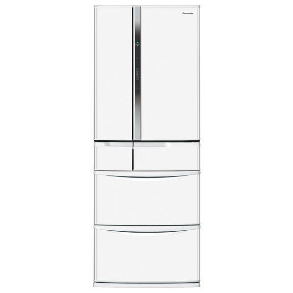 【送料無料】パナソニック 451L 6ドアノンフロン冷蔵庫 ハーモニーホワイト NR-FVF453-W [NRFVF453W]