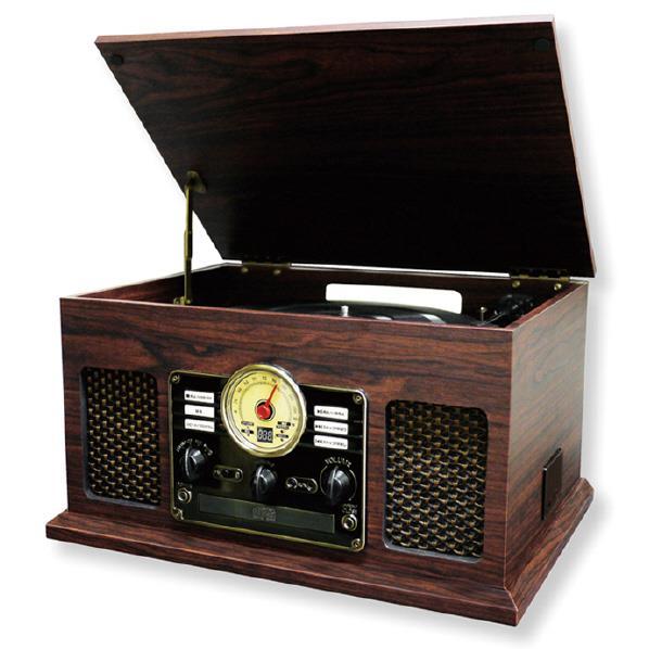 フューズ レコードプレーヤー ウッド調ブラウンカラー CLS50 [CLS50]