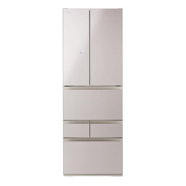 東芝 462L 6ドアノンフロン冷蔵庫 KuaL VEGETA クリアレディッシュゴールド GRM460FDEZN [GRM460FDEZN]【RNH】