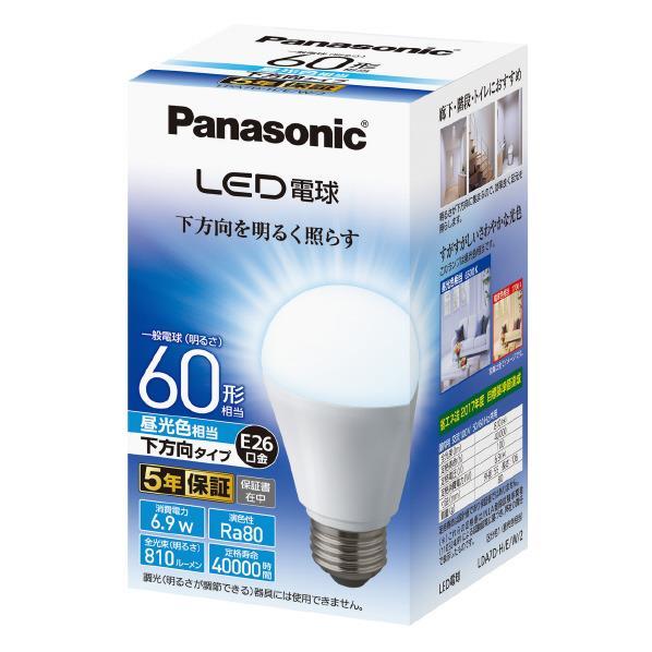パナソニック LED電球 E26口金 全光810lm(6.9W一般電球タイプ) 昼光色相当 昼光色 LDA7DHEW2 [LDA7DHEW2]