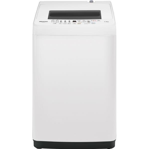 ハイセンス 4.5kg全自動洗濯機 オリジナル ホワイト HW-E4502 [HWE4502]【RNH】