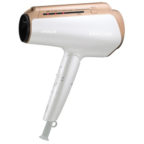 【送料無料】日立 ナノイオンドライヤー Hair CRiE Plus+ パールホワイト HD-NS910 W [HDNS910W]【RNH】