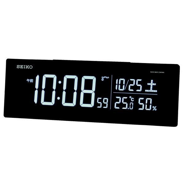 【送料無料】SEIKO 電波目覚まし時計 ブラック DL305K [DL305K]