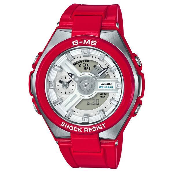 カシオ 腕時計 BABY-G G-MS レッド MSG-400-4AJF [MSG4004AJF]