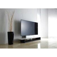 朝日木材〜65V型まで対応テレビ台ホワイトハイグロスAS-WF1500