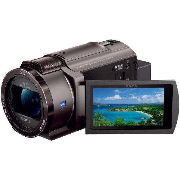 SONY 64GB内蔵メモリー デジタル4Kビデオカメラ ハンディカム ブロンズブラウン FDR-AX45 TI [FDRAX45TI]【RNH】