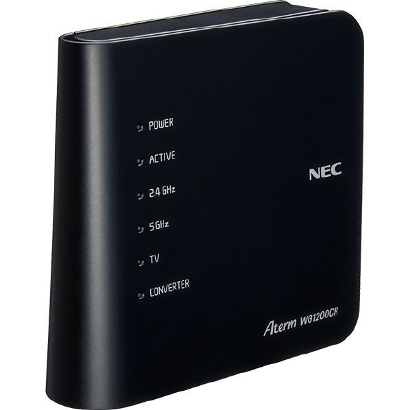 NEC 無線LANルーター Aterm 黒 PA-WG1200CR [PAWG1200CR]【RNH】【MCHP】