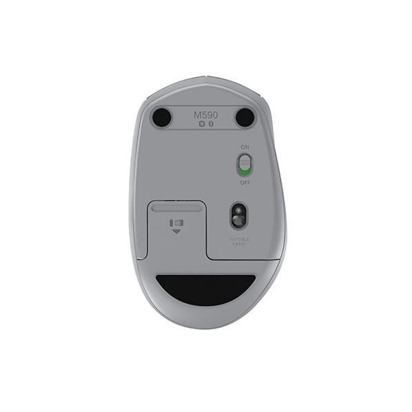 ロジクール サイレントワイヤレスマウス M590 ミッドグレイトーナル M590MG [M590MG]