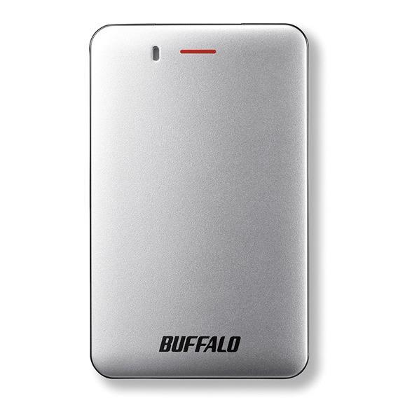 BUFFALO ポータブルSSD(480GB) シルバー SSD-PM480U3A-S [SSDPM480U3AS]