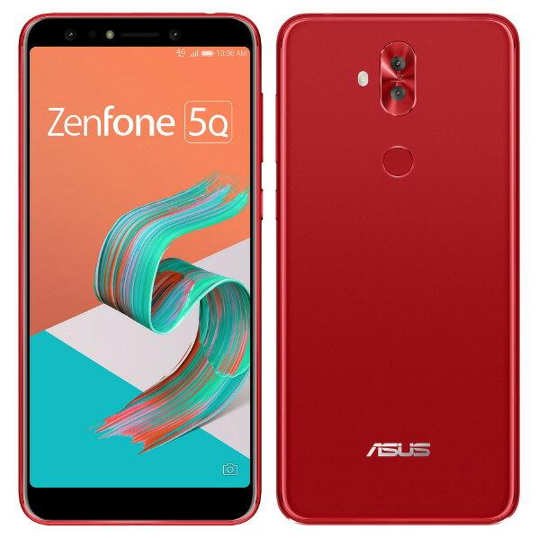 【送料無料】ASUS SIMフリースマートフォン Zenfone 5Q ルージュレッド ZC600KL-RD64S4 [ZC600KLRD64S4]