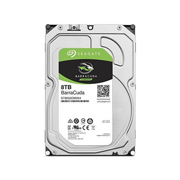 SEAGATE 3.5インチハードディスク(8TB) SEAGATE BarraCudaシリーズ ST8000DM004 [ST8000DM004C]