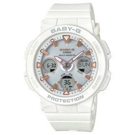 カシオ ソーラー電波腕時計 BABY-G ビーチトラベラー ホワイト BGA-2500-7AJF [BGA25007AJF]