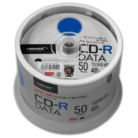HI DISC HIDISC CD-R データ用 48倍速 700MB ホワイトワイドプリンタブル スピンドルケース 50枚 TYコードシリーズ TYCR80YP50SPMG [TYCR80YP50SPMG]【FBMP】