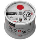 HI DISC HIDISC DVD-R データ用 16倍速 4.7GB ホワイトワイドプリンタブル スピンドルケース 50枚 TYコードシリーズ …