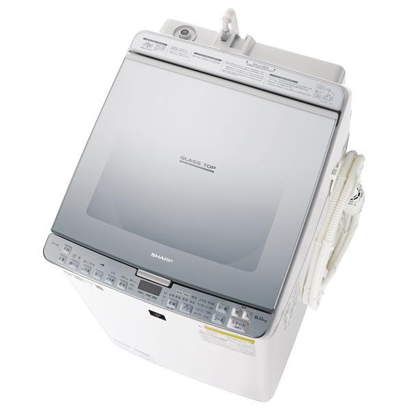 シャープ 8.0kg洗濯乾燥機 シルバー系 ESPX8CS [ESPX8CS]【RNH】