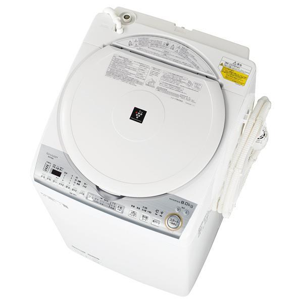 シャープ 8.0kg洗濯乾燥機 ホワイト系 ESTX8CW [ESTX8CW]【RNH】