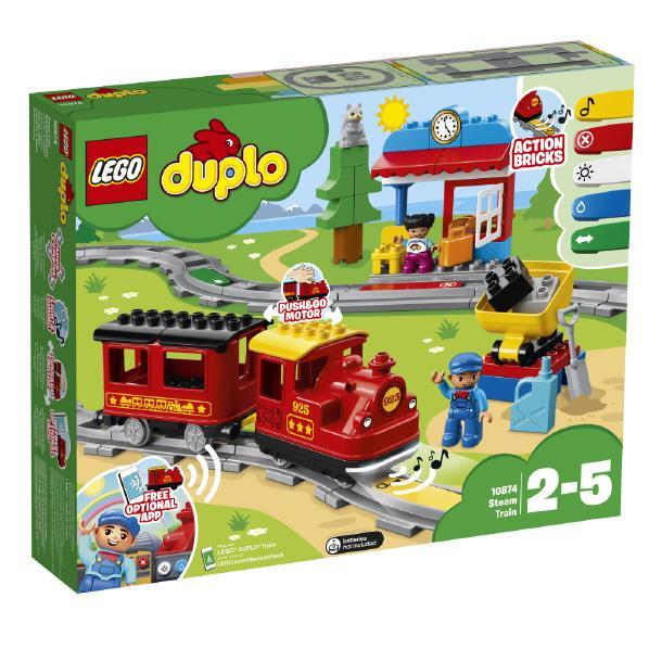 レゴジャパン LEGO デュプロ 10874 キミが車掌さん!おしてGO機関車デラックス 10874キミガシヤシヨウサンキカンシヤDX [10874キミガシヤシヨウサンキカンシヤDX]