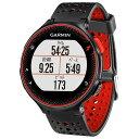 GARMIN GPSランニングォッチ フォアスリート ブラック/レッド 37176H [FA235JBKRD]