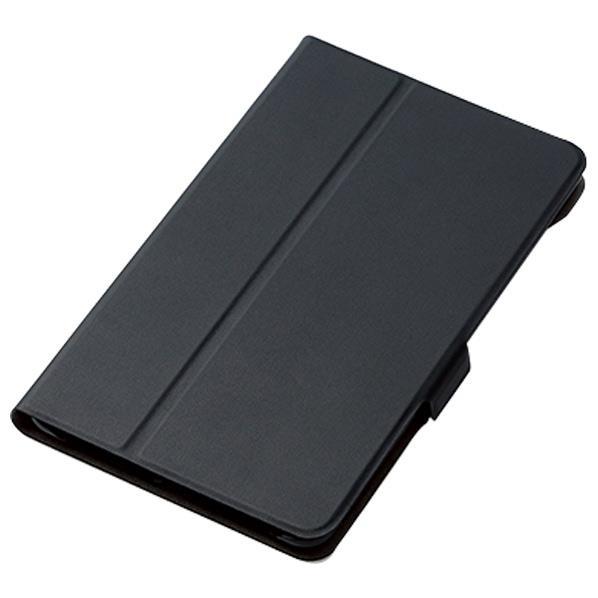 エレコム dtab Compact(d-02K)用フラップカバー ブラック TBD-HW68WVFUBK [TBDHW68WVFUBK]