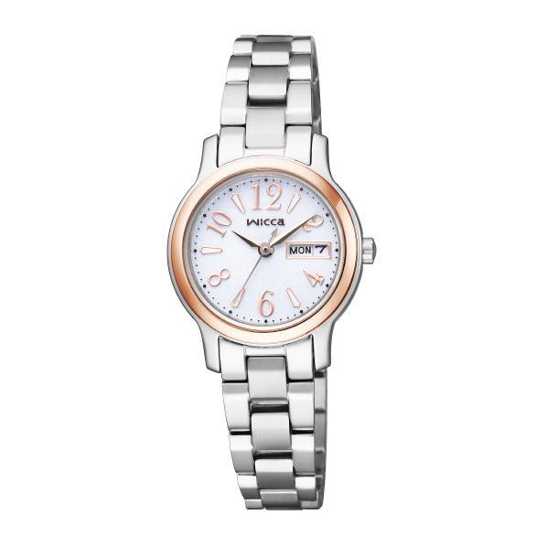 シチズン 腕時計 ウィッカ ソーラーテック 白 KH3-436-11 [KH343611]
