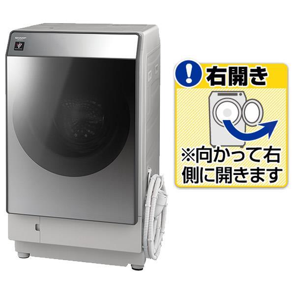 シャープ 【右開き】11.0kgドラム式洗濯乾燥機 シルバー ESW111SR [ESW111SR]【RNH】