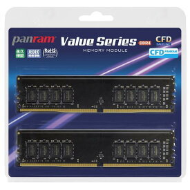 CFD DDR4-2666対応 デスクトップ用メモリ 288pin DIMM 8GB 2枚組 Panram W4U2666PS-8GC19 [W4U2666PS8GC19]【SDSP】