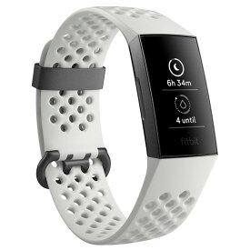 Fitbit フィットネストラッカー Charge3 Special Edition White Sports Band/Graphite Aluminium L/Sサイズ フロストホワイト スポーツベルト/グラファイト FB410GMWT-CJK [FB410GMWTCJK]