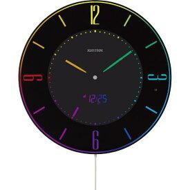 リズム時計 置き掛け兼用時計 RHYTHM 黒 8RZ197SR02 [8RZ197SR02]【FOFP】【FOP】