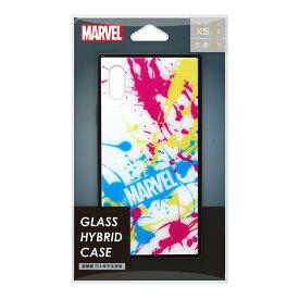 PGA iPhone XS/X用ガラスハイブリッドケース MARVEL スプラッシュロゴ/ホワイト PG-DCS615WH [PGDCS615WH]