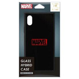 PGA iPhone XR用ガラスハイブリッドケース MARVEL ロゴ/ブラック PG-DCS620BK [PGDCS620BK]