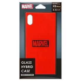 PGA iPhone XS Max用ガラスハイブリッドケース MARVEL ロゴ/レッド PG-DCS632RD [PGDCS632RD]