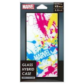 PGA iPhone XS Max用ガラスハイブリッドケース MARVEL スプラッシュロゴ/ホワイト PG-DCS635WH [PGDCS635WH]
