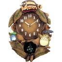リズム時計 掛け時計 となりのトトロ 茶色ボカシ仕上 4MJ837MN06 [4MJ837MN06]【WPP】