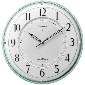 リズム時計 ソーラー電波掛け時計 CITIZEN(シチズン) 緑透明色(白) 4MY851-005 [4MY851005]