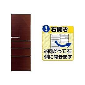 AQUA 【右開き】355L 4ドアノンフロン冷蔵庫 グロスブラウン AQR-SV36H(T) [AQRSV36HT]【RNH】