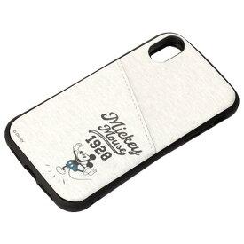 PGA iPhone XR用タフポケットケース ミッキーマウス/グレー PG-DCS694MKY [PGDCS694MKY]